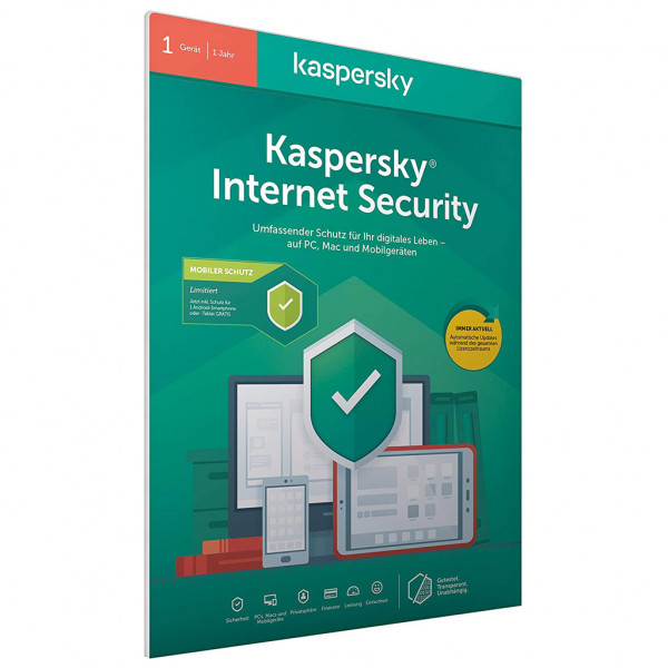 Kaspersky Internet Security 2020 + Android Sec. (Code in a Box) - Deutsch